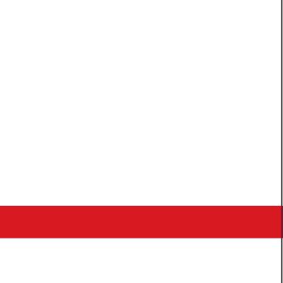 פלטת חריתה לבן / אדום